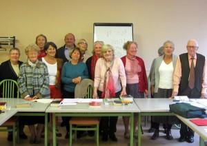 Photo des sessionnaires et Marie P